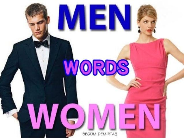 SENTENCES WITH MEN WOMEN