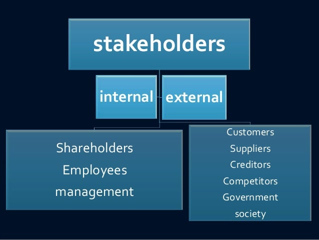 internal and external stakeholder analysis essay How do you identify and analyze stakeholders and their interests  influence  and interest can be either internal or external to the organization or the.