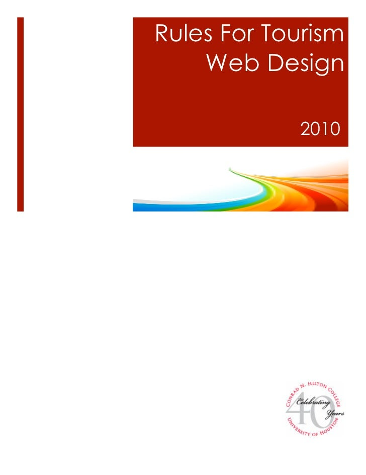 Rules For Tourism    Web Design             2010