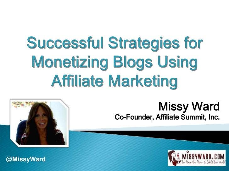 Monetizing Your Blog Using Affiliate Marketing