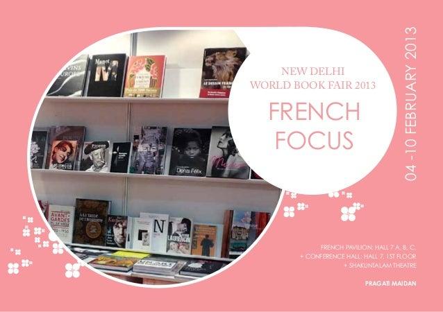Brochure officielle de la délégation française au New Delhi World Book Fair