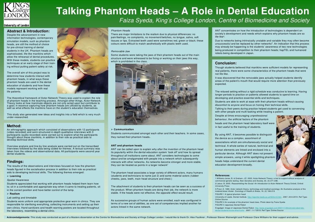 Talking Phantom Heads - A Role in Dental Education by Faiza Syeda