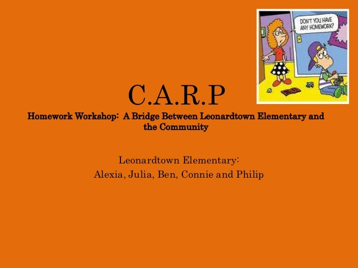 C.A.R.PHomework Workshop:  A Bridge Between Leonardtown Elementary and the Community<br />Leonardtown Elementary:<br />Ale...
