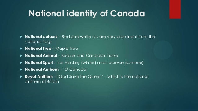 an overview of the culture and identity of canada A conceptual overview  culture to culture and change over time  concerned with questions of identity and view .