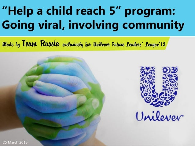 "25 March 2013""Help a child reach 5"" program:Going viral, involving community"