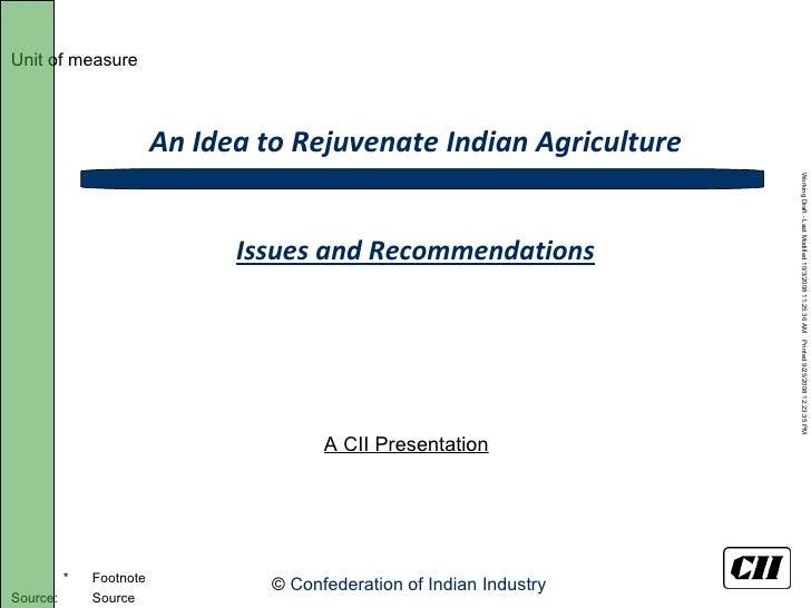 CII Agriculture