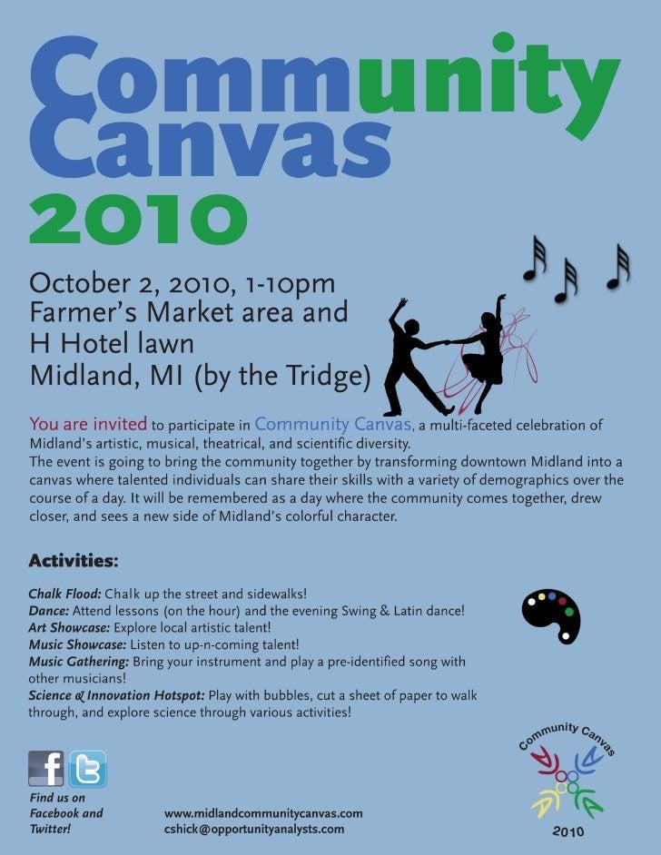 Community Canvas Poster - Blue