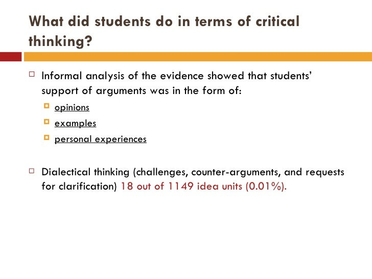 critical thinking projects for middle school