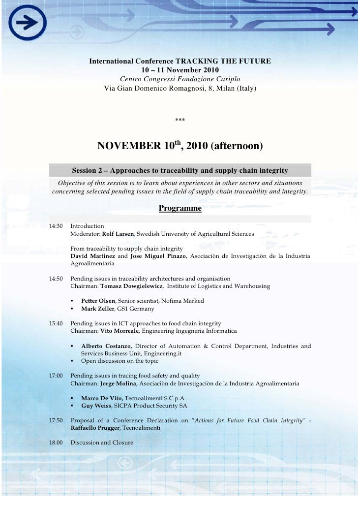 """Session 2: International conference """"Tracking the future"""""""