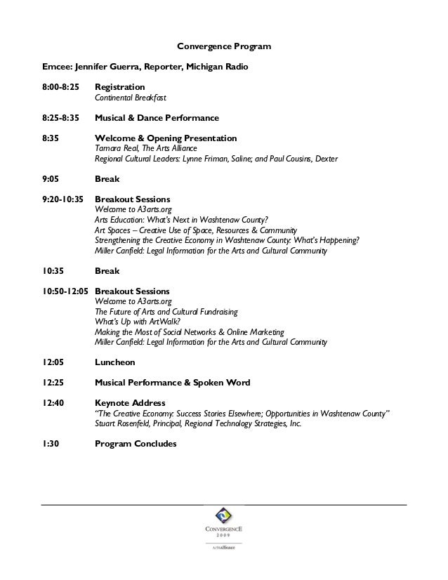 *SAMPLE* Conference Program