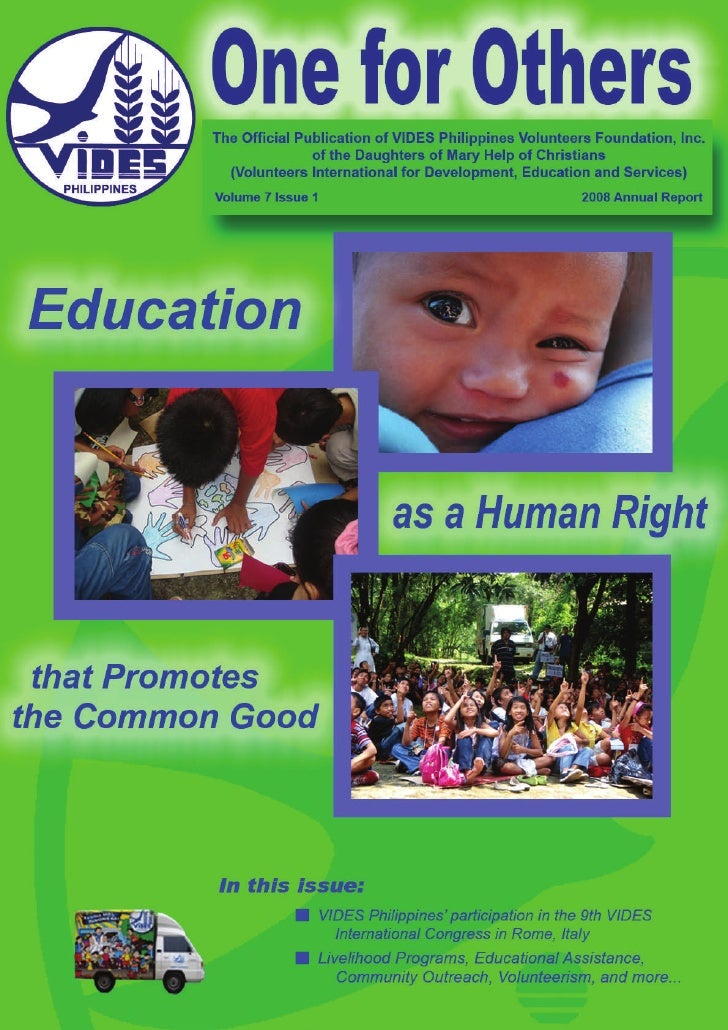 One for Others - VIDES Volunteers
