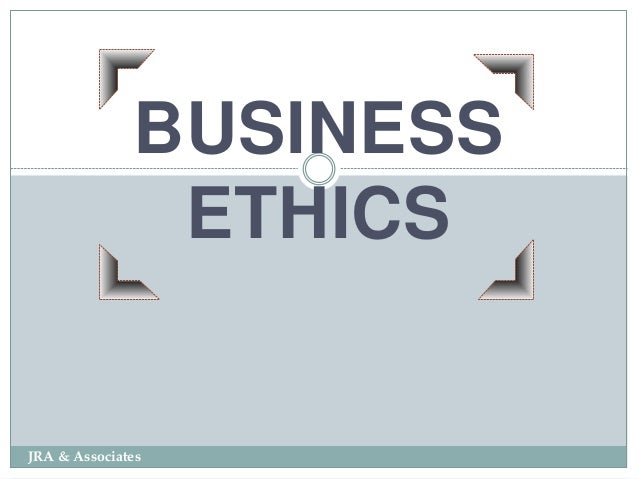 Ethics In A Corporate Environment