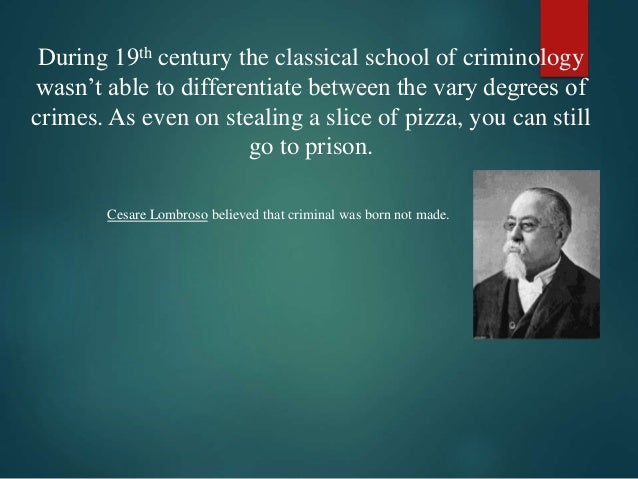 the history of criminology Start studying brief history of criminology learn vocabulary, terms, and more with flashcards, games, and other study tools.