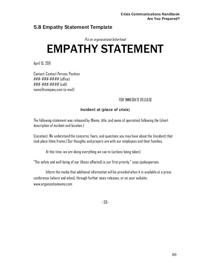 paragraph statement