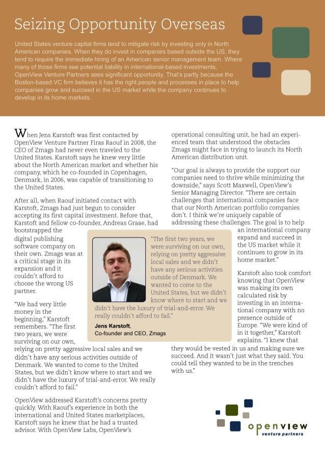 Case Study: Seizing Opportunities Overseas