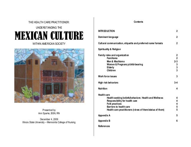 Mexican Cultural Implications in Health Care in the United States