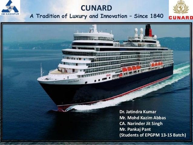 cunard case Was one of several ships of the white star line, which had a primary rival: the cunard line the  mini-case: white star line's titanic sinks.