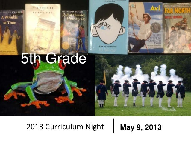5th Grade2013 Curriculum Night May 9, 2013
