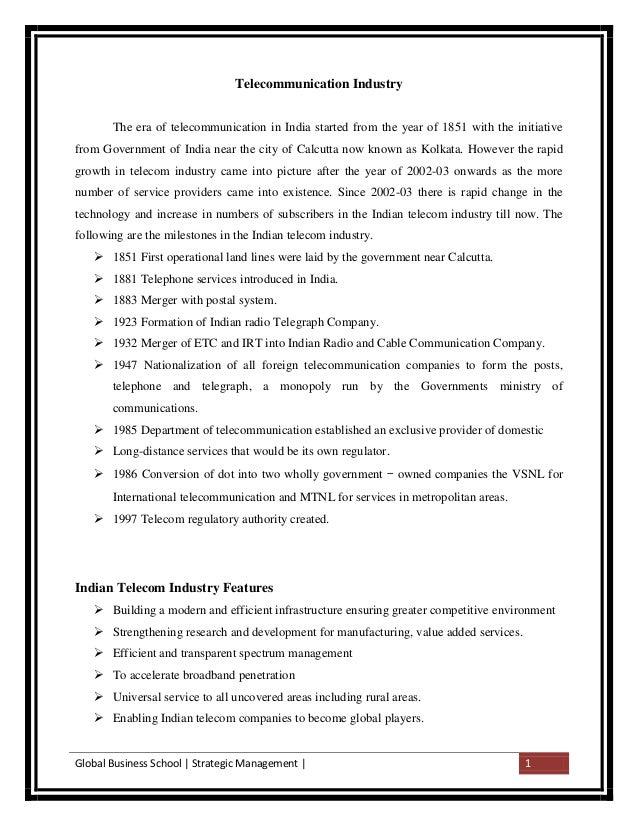 Strategic Management Airtel and Idea