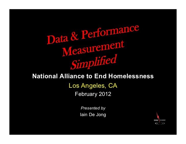 National Alliance to End Homelessness             Los Angeles, CA            February 2012              Presented by      ...