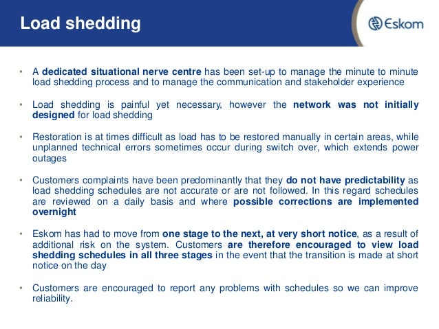 load shedding term