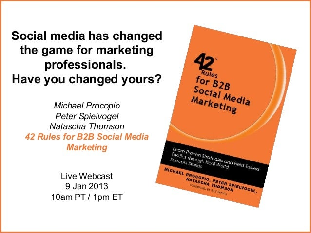 Social media has changed the game for marketing     professionals.Have you changed yours?         Michael Procopio        ...
