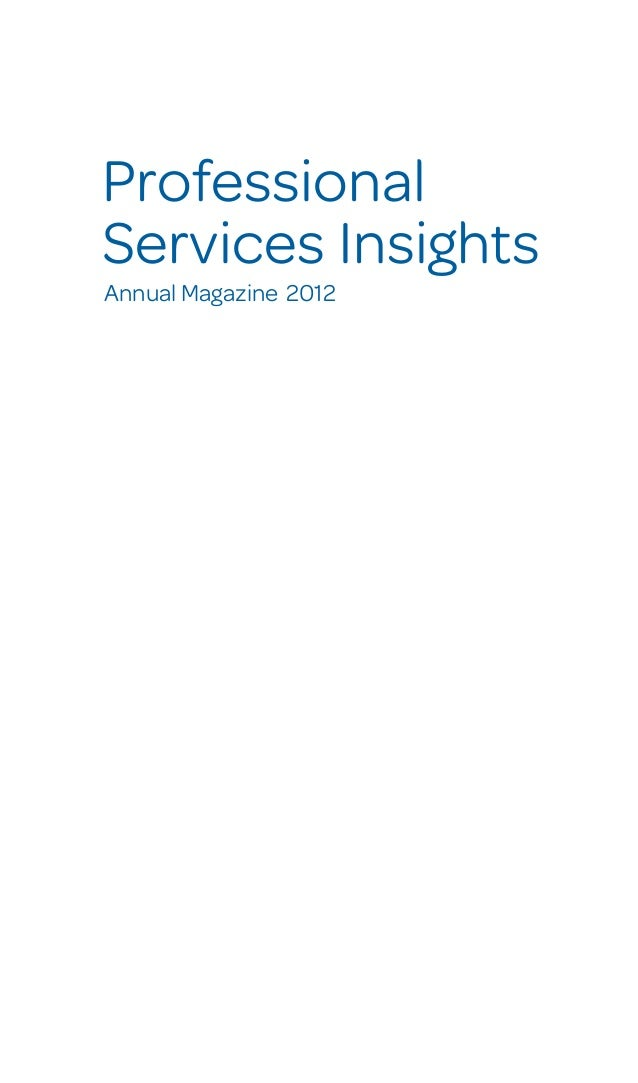 Professional Services Insights Annual Magazine 2012