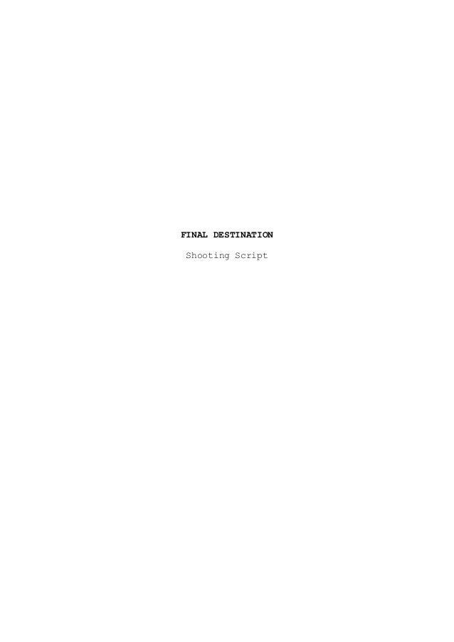Final destination 1  shooting script with original ending
