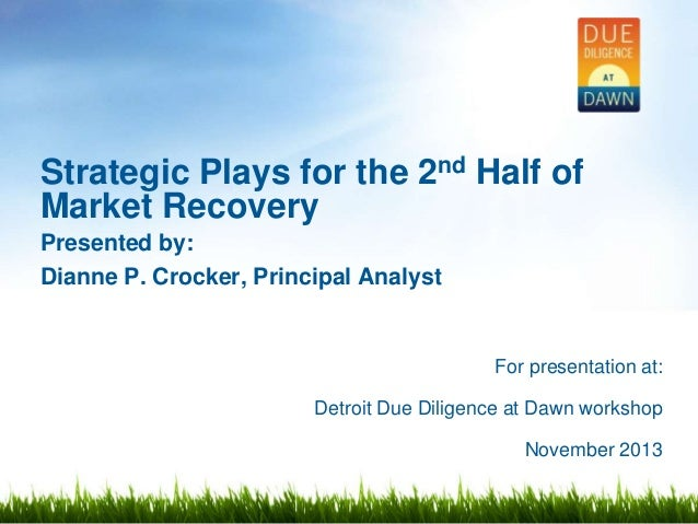 Strategic Plays for the 2nd Half of Market Recovery: Detroit