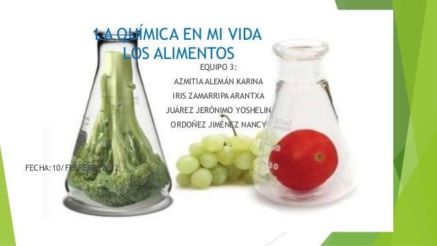 La qu mica en mi vida los alimentos for La cocina de los alimentos pdf