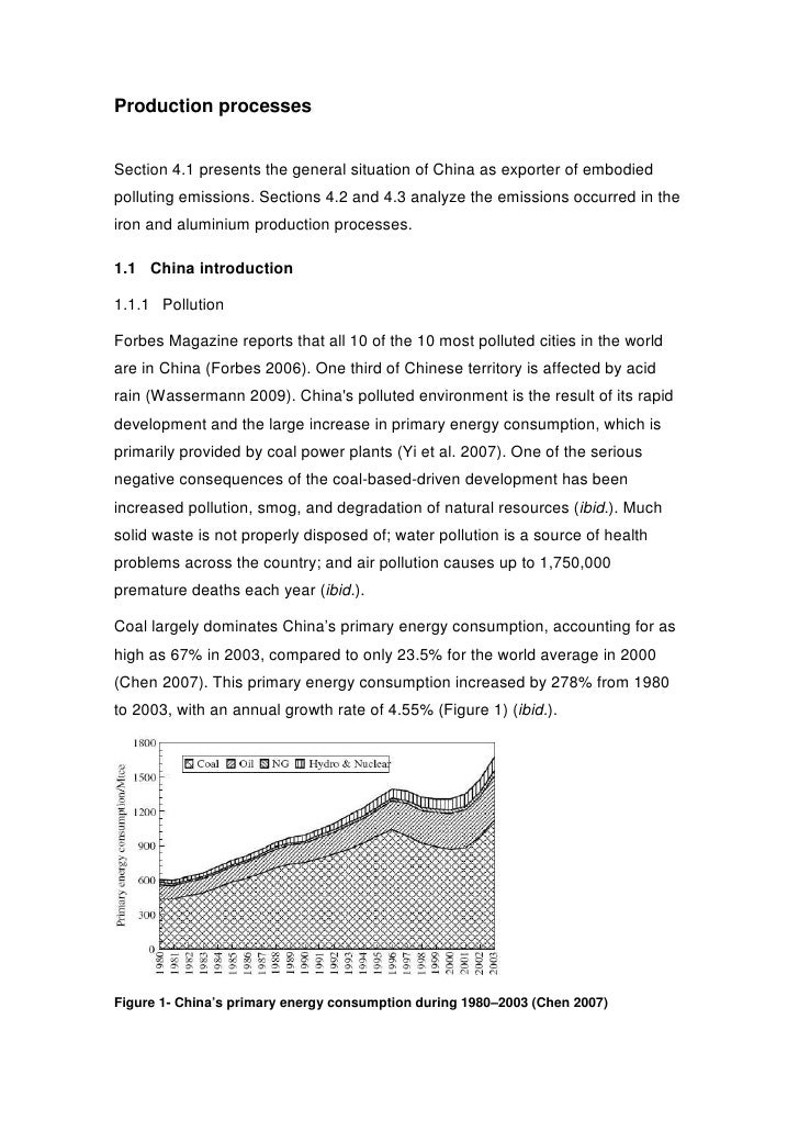 Production processes   Section 4.1 presents the general situation of China as exporter of embodied polluting emissions. Se...