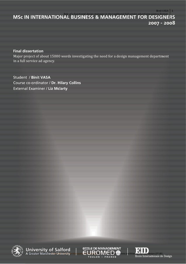 Binit VASA / MSc Design Management Dissertation preview