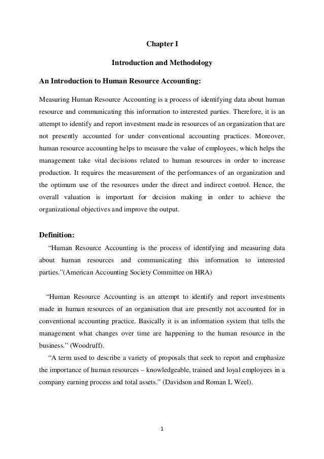 thesis on human resource accounting in india Research and practice in human resource management is an international refereed journal we aim to publish original qualitative and quantitative empirical studies which contribute to a better understanding of human resource management challenges in the pacific rim.