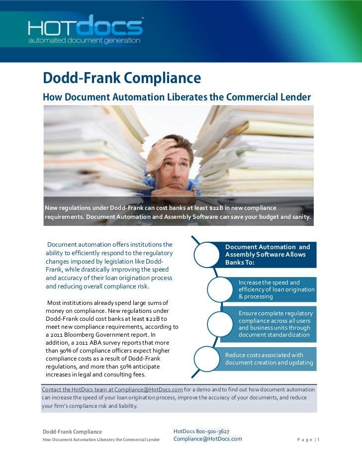 Dodd-Frank Compliance