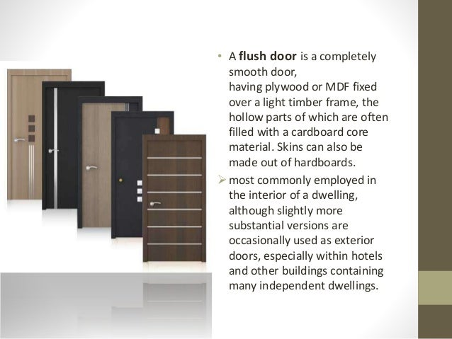 Flush doors definition images for Exterior definition