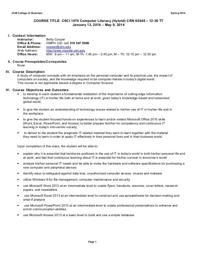 Final draft csci 1070 crn__60348 1230 tt syllabus_spring 2014