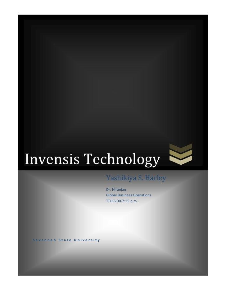 Invensis Technology                             Yashikiya S. Harley                             Dr. Niranjan              ...
