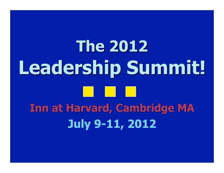 Next 3 days  Summit   2012