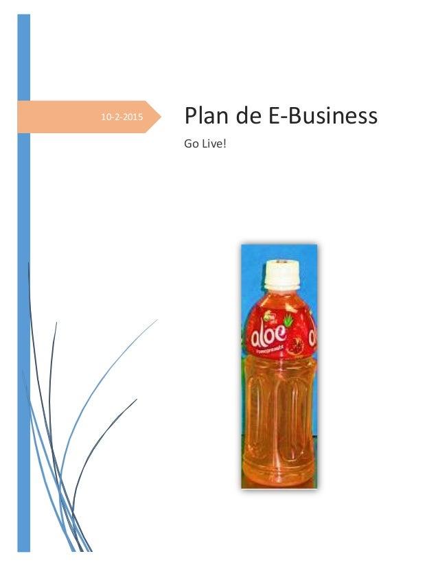 10-2-2015 Plan de E-Business Go Live!