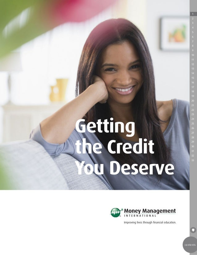 Get the credit score you deserve