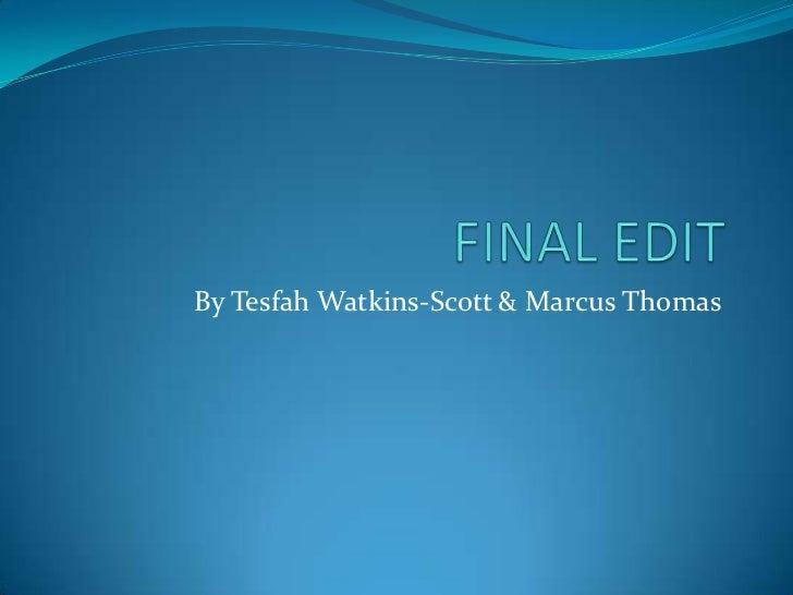 Final Edit 1st Draft
