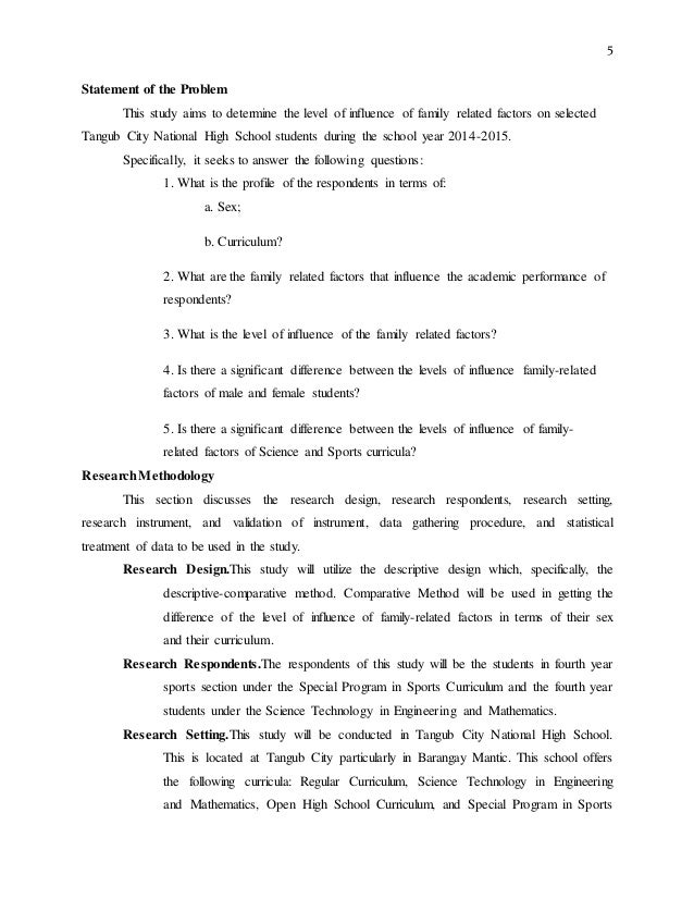 creating the problem statement dissertation statement of the SlideShare