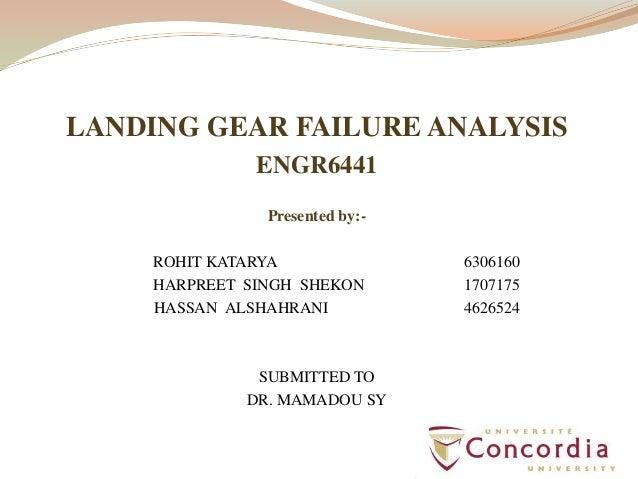 Landing gear Failure analysis of an aircraft