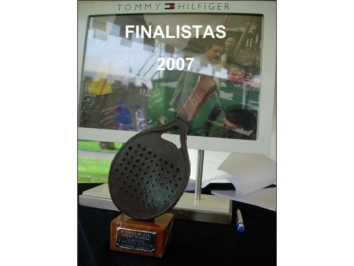FINALISTAS 2007