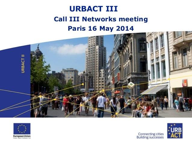 URBACT presentation 16 may 2014