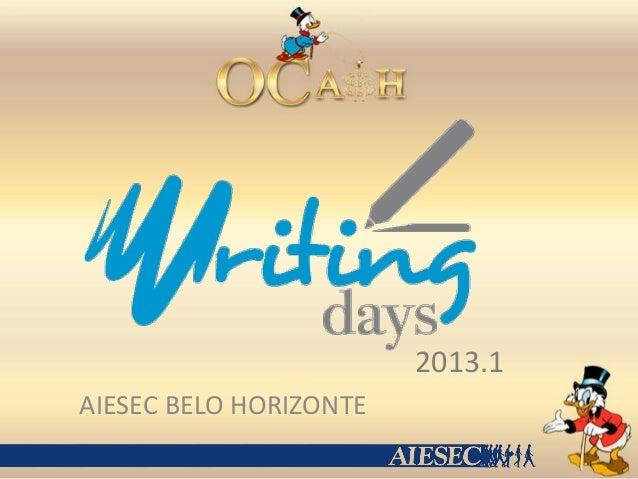 Writing Days 2013.1
