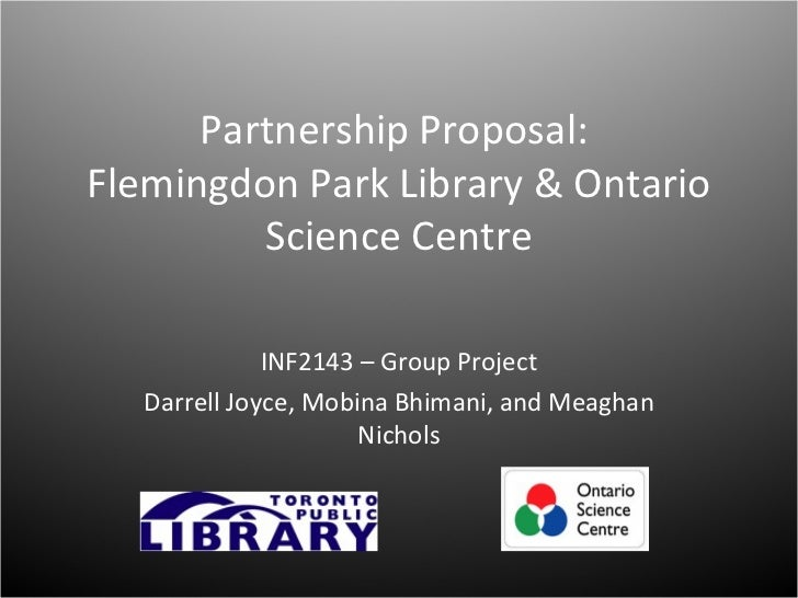 INF2143H: Issues in Children & Youth Librarianship, Partnership Proposal