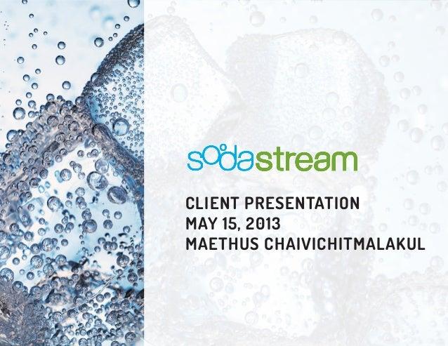 Problem Solving: SodaStream