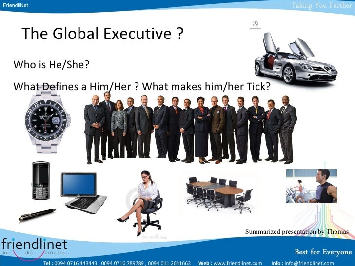 Developing the Global Executive - Who is GE