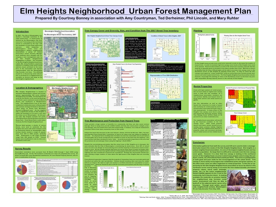 Elm Heights Neighborhood Urban Forest Management Plan                               Prepared By Courtney Bonney in associa...